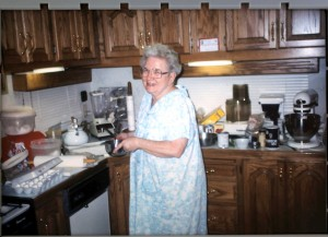Mom in kitchen