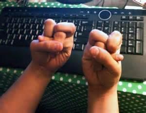 tangled fingers