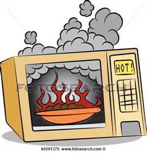 microwave fire